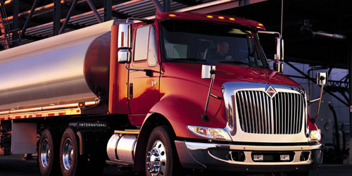International 8600 tanker truck